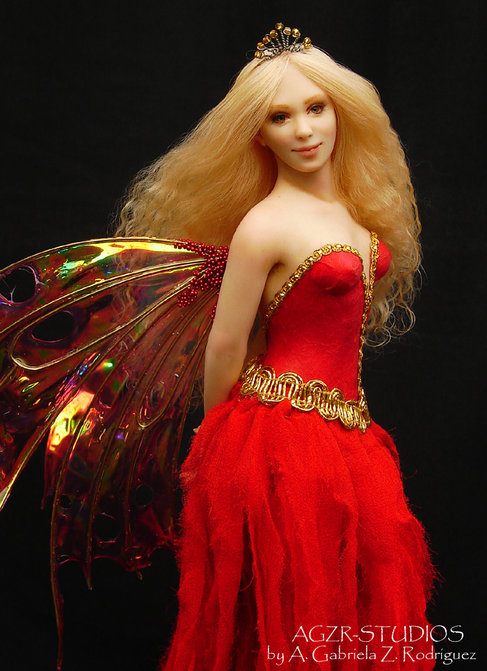 Fairy Doll Sculpture Handcrafted A Gabriela Z Rodriguez AGZR STUDIOS