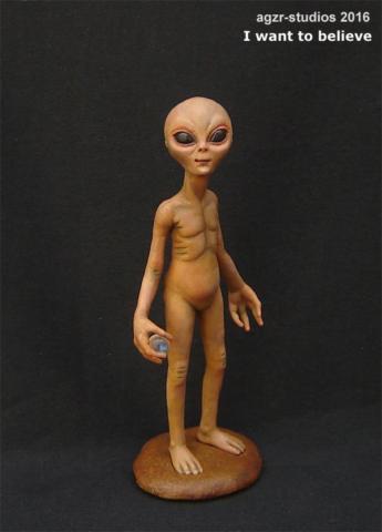 1:12 scale Alien extraterrestial ufo doll dollhouse ovni volador platillo marciano et