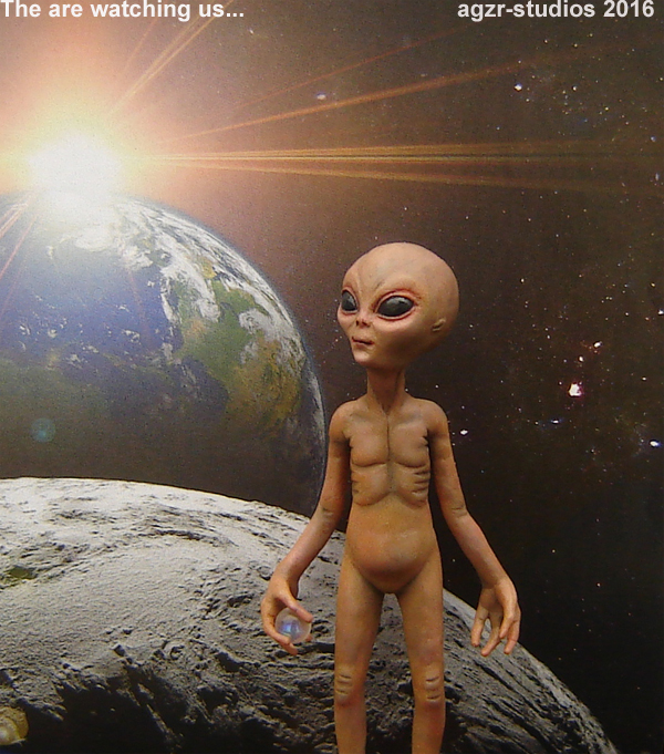 1:12 scale Alien extraterrestial ufo doll dollhouse collector item x files