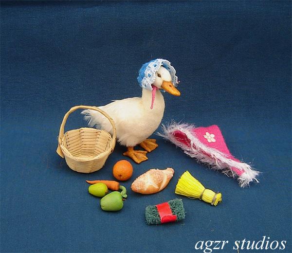 1:12 miniature Jemima momma duck ooak dollhouse fairytale