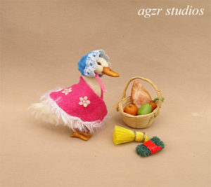 1:12 miniature Jemima momma duck ooak dollhouse
