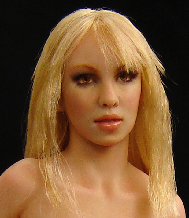 ooak doll inspired by Britney Spears singer sculpted by hand