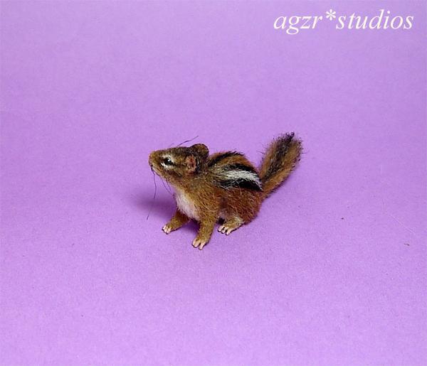 Handmade 1:12 scale miniature Chipmunk