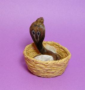 Ooak 1:12 cobra snake handmade dollhouse pet