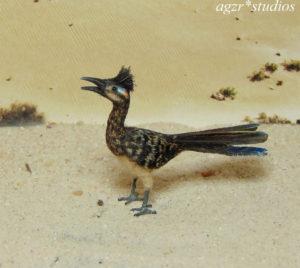 1:12 ooak miniature road runner bird lifelike handmade