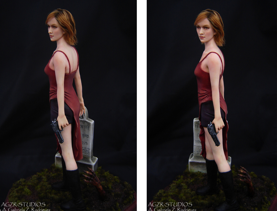 Sculpture Art Doll Alice from Resident evil inspired by Milla Jojovich