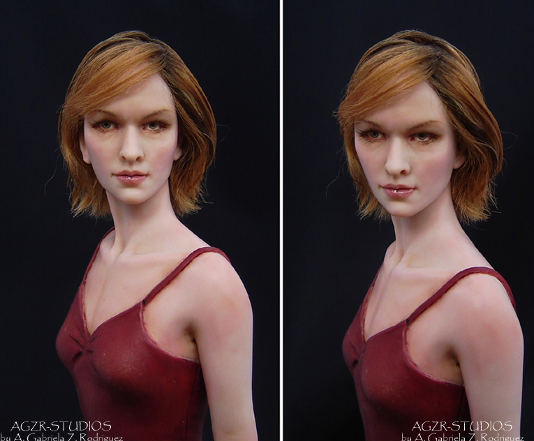 ooak resident evil Alice doll handmade in polymer clay by agzr studios