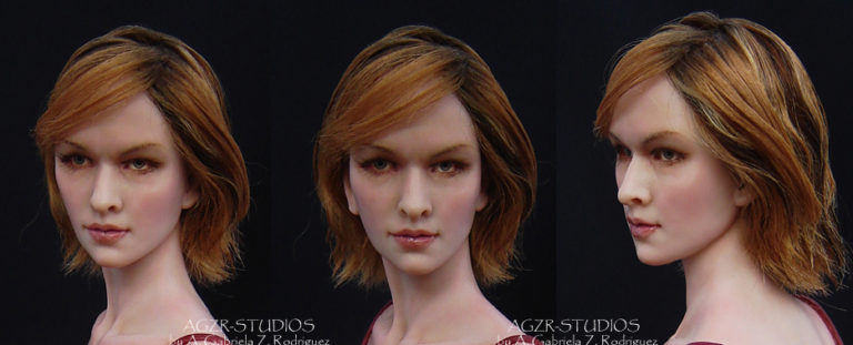 Alice from Resident evil inspired by Milla Jojovich Sculpture Art Doll