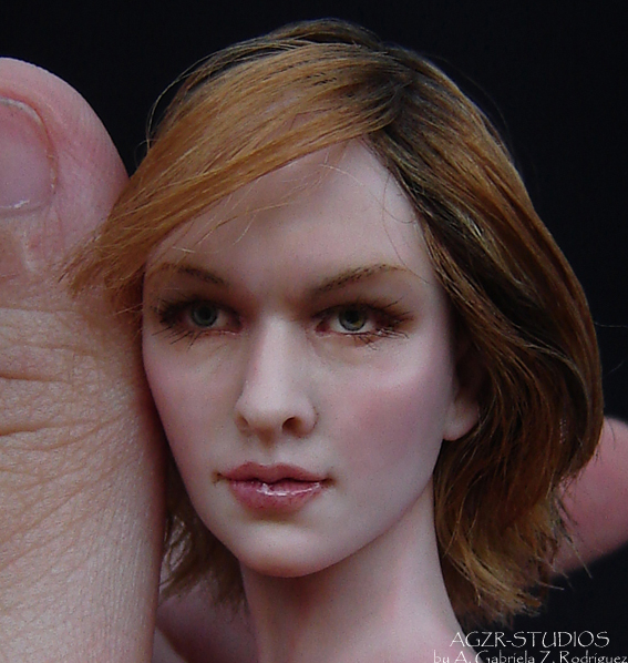 Alice from Resident evil inspired by Milla Jojovich zombies game sculpture art doll