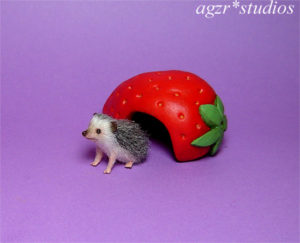 1:12 miniature hedgehog with house adorable micro pet realistic handcrafted