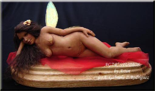 Ooak Handmade Fairy Fae in polymer clay
