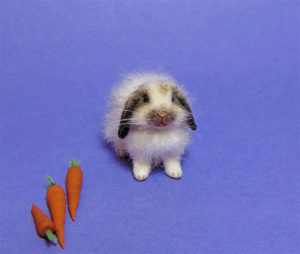 1:12 dollhouse furred miniature lop bunny