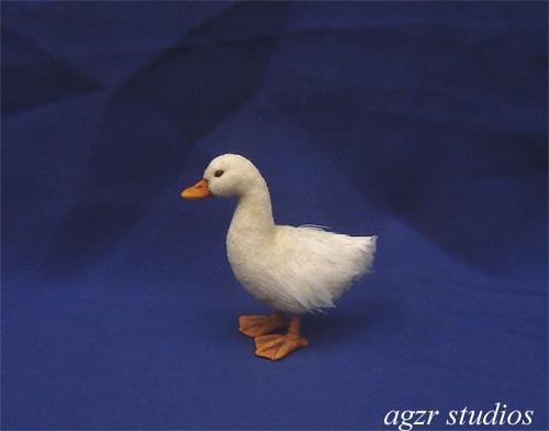 1:12 miniature pekin duck ooak handmade
