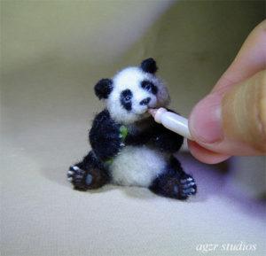 Ooak 1:12 scale Panda bear cub