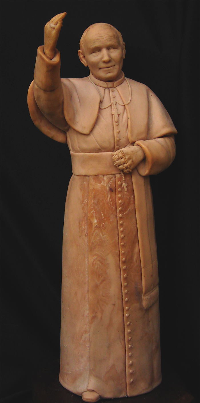 John Paul II Sculpture prototype handsculpted original doll