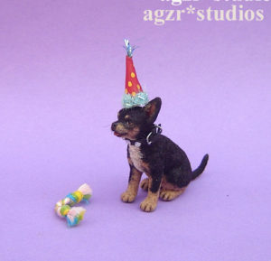 Ooak 1:12 dollhouse miniature chihuahua dog life like pet dollhouse realistic furred