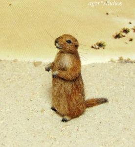 1:12 miniature furred prairie dog realistic wild animal
