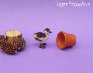 1:12 miniature ruddy shelduck duckling dollhouse ooak handmade