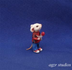 Ooak handmade stuart little realistic mouse lifelike dollhouse scale 1:12