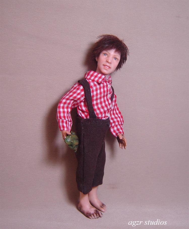 ooak Willy Olsen doll 1:12 scale dollhouse art sculpture collector