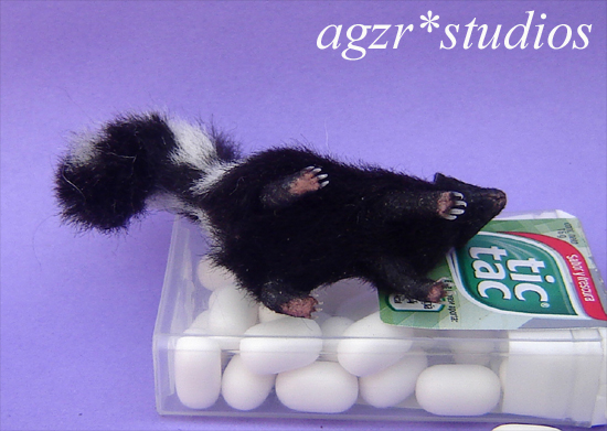 1:12 realistic skunk furred handmade